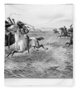 Indians/u.s. Military, 1876 Fleece Blanket