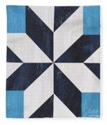 Indigo And Blue Quilt Fleece Blanket