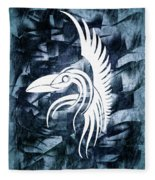 Indigo Bird Flight Contemporary Fleece Blanket
