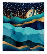 Indigo Desert Night Fleece Blanket