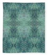 Indigo Lotus Lace Pattern 1 Fleece Blanket