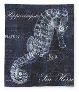 Indigo Verde Mar 1 Fleece Blanket