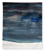 Indigo Winter Night Fleece Blanket