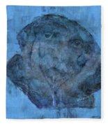 Indistincint Blues Fleece Blanket
