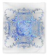 Indulgent Blue Lace Fleece Blanket