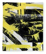 Industrial Abstract Painting I Fleece Blanket
