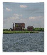 Industrial Banks Of The Charleston Harbor Fleece Blanket