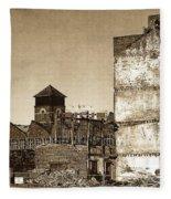 Industrial Decay Sepia 1 Fleece Blanket