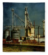 Industrial Farming In Texas Fleece Blanket