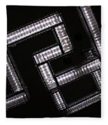 Industrial Geometric Design Fleece Blanket