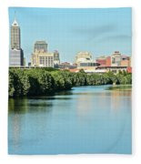 Indy White River View Fleece Blanket