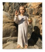 Infant Jesus Of Prague Fleece Blanket