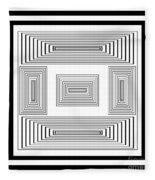 Infinite Maze 2 Fleece Blanket