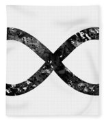 Infinity Symbol-black Fleece Blanket