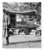 Influenza Epidemic, 1918 Fleece Blanket