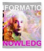Information Is Not Knowledge Fleece Blanket