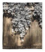 Infrared Botanical Sepia  Fleece Blanket