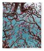 Infrared Frangipani Tree Fleece Blanket