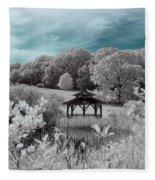 Infrared Gazebo Fleece Blanket