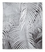 Infrared Palm Abstract Fleece Blanket