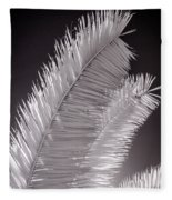 Infrared Palm Frond Fleece Blanket