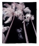Infrared Palm Trees Fleece Blanket