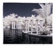 Infrared Pool Fleece Blanket