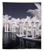 Infrared Pool Fleece Blanket