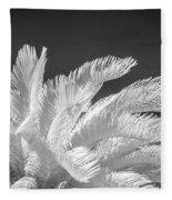 Infrared Sago Palm Fleece Blanket