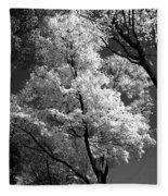 Infrared Tree Pic Fleece Blanket