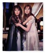 Ingrid Pitt And Madeline Smith Fleece Blanket