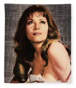 Ingrid Pitt, Vintage Actress Fleece Blanket