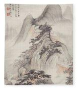 Ink Painting Landscape Fleece Blanket