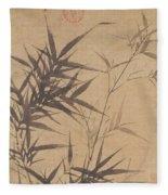 Ink Painting Stone Bamboo Fleece Blanket