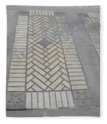 Inlayed Brick Walk Fleece Blanket