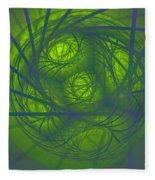 Inner Light Spiral Sanctum Fleece Blanket
