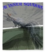 Inner Squirrel Art #1 Fleece Blanket