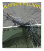 Inner Squirrel Art #2 Fleece Blanket