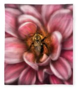 Insect - Bee - Center Of The Universe  Fleece Blanket