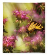 Insect - Butterfly - Golden Age  Fleece Blanket
