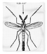 Insect: Midge Fleece Blanket