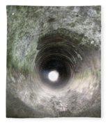 Inside A 20mm Submarine Deck Gun Barrel Fleece Blanket