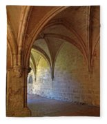 Inside A Monastery Dordogne France  Fleece Blanket