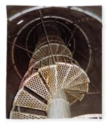 Inside Looking Up - Matagorda Island Lighthouse Fleece Blanket