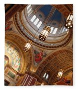 Inside Saint Matthew's Cathedral -- At An Angle Fleece Blanket
