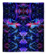 Inside The Electric Temple After Nightfall Fleece Blanket