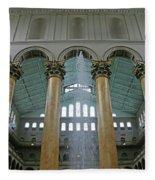 Inside The National Building Museum Fleece Blanket