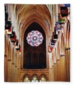 Inside The National Cathedral Fleece Blanket