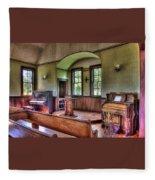 Inside The Oysterville Church  Fleece Blanket