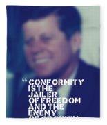 Inspirational Quotes - Motivational - John F. Kennedy 9 Fleece Blanket